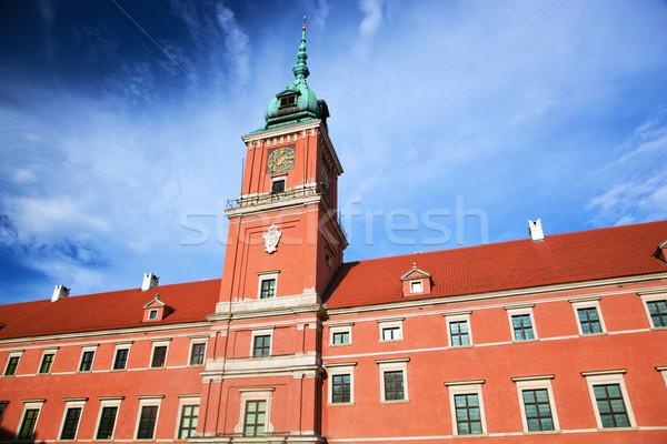 Reale castello Varsavia Polonia città vecchia cielo blu Foto d'archivio © photocreo