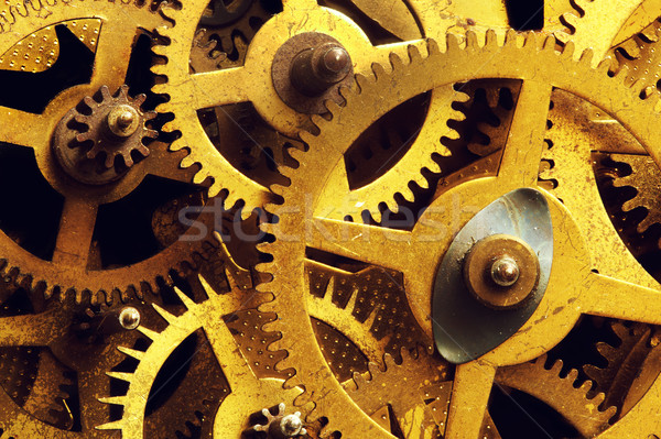 Grunge gear, cog wheels background. Industrial science, clockwork, technology. Stock photo © photocreo