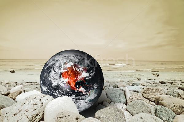 земле катастрофа Глобальное потепление огня мира природы Сток-фото © photocreo
