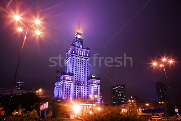 ワルシャワ ポーランド タウン スカイライン 1泊 宮殿 ストックフォト © photocreo
