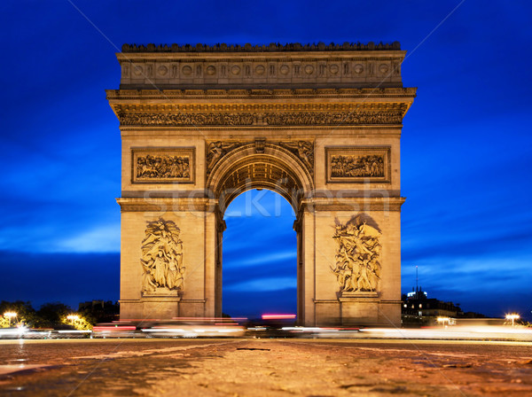 Arc de Triomphe at night, Paris, France.  Stock photo © photocreo
