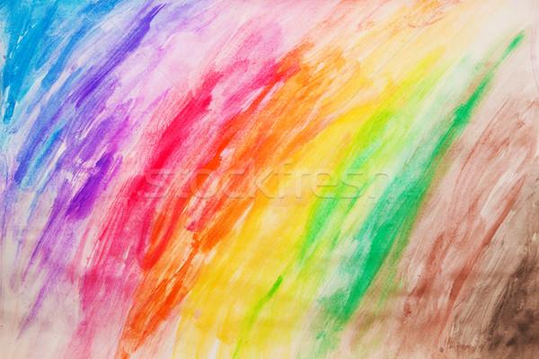 Colorful painting pattern, drawn manually Stock photo © photocreo