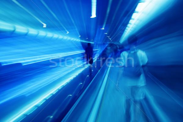 Emberek sietség metró bemozdulás gyors iram Stock fotó © photocreo