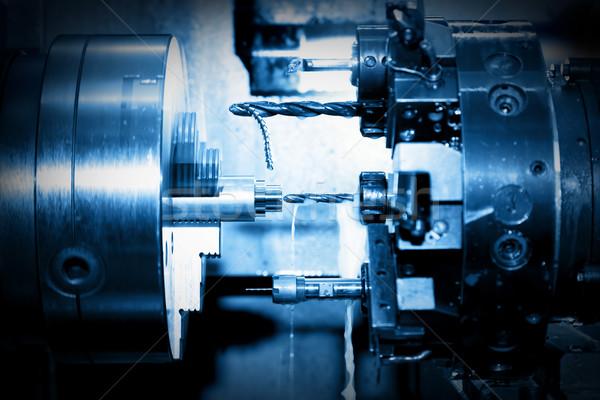 Ipari fúrás unalmas gép munka közelkép Stock fotó © photocreo