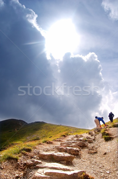 Mountains hiking trail Stock photo © photocreo