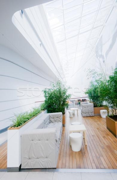 Foto stock: Moderno · negócio · interior · espaçoso · limpar · madeira
