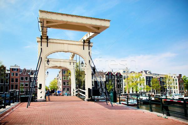 スキニー 橋 アムステルダム オランダ オランダ 光 ストックフォト © photocreo