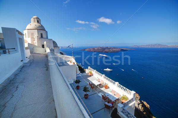 Hagyományos építészet Santorini sziget Görögország fehér Stock fotó © photocreo
