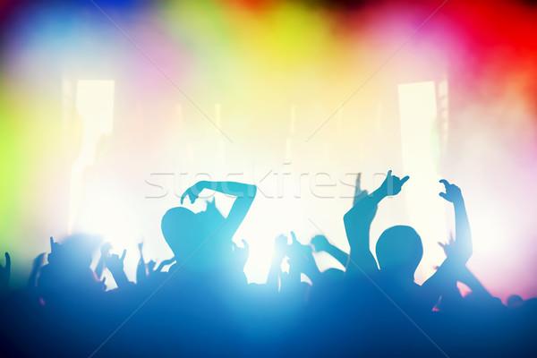 Koncertu disco strony ludzi klub nocny Zdjęcia stock © photocreo