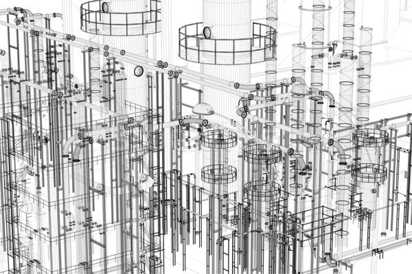 Soyut endüstriyel teknoloji mühendislik fabrika araçları Stok fotoğraf © photocreo