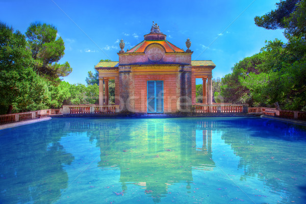 Summer park with water pool Stock photo © photocreo