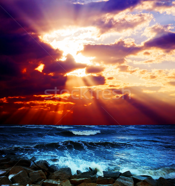 Stock photo: Surrealistic sunset seascape
