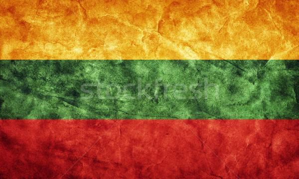 Lituânia grunge bandeira item meu vintage Foto stock © photocreo