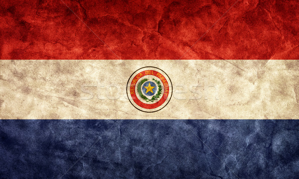 Paraguay grunge flag. Item from my vintage, retro flags collection Stock photo © photocreo