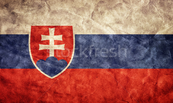 Slovakia grunge flag. Item from my vintage, retro flags collection Stock photo © photocreo