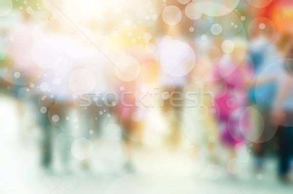 Wazig afbeelding menigte drukke mensen lopen Stockfoto © photocreo