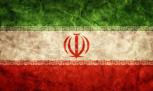 Iran grunge flag. Item from my vintage, retro flags collection Stock photo © photocreo