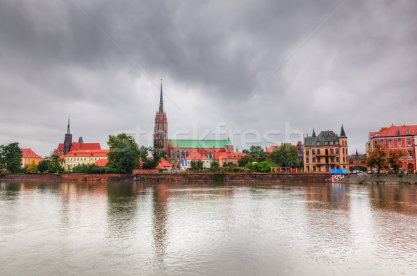 Wroclaw, Poland. Ostrow Tumski and Oder River Stock photo © photocreo