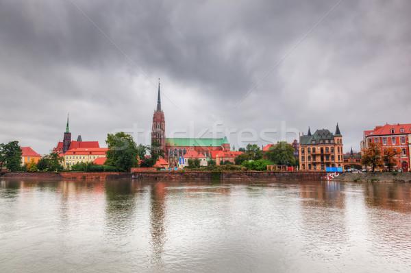 Polonia fiume cattedrale isola costruzione città Foto d'archivio © photocreo