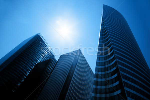Business skyscrapers. La Defense, Paris, France Stock photo © photocreo