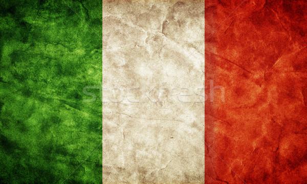 Zdjęcia stock: Włochy · grunge · banderą · pozycja · mój · vintage