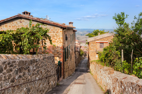 Street and houses in Montepulciano, Tuscany, Italy, Stock photo © photocreo
