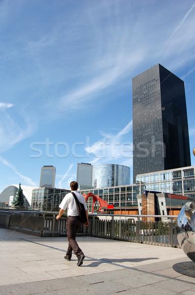 Affaires vie affaires femme bâtiment homme Photo stock © photocreo