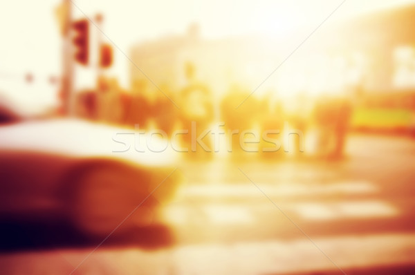 People about to cross the street. Car on the road. Stock photo © photocreo