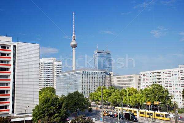 Television tower, Alexanderplatz area. Berlin, Germany Stock photo © photocreo