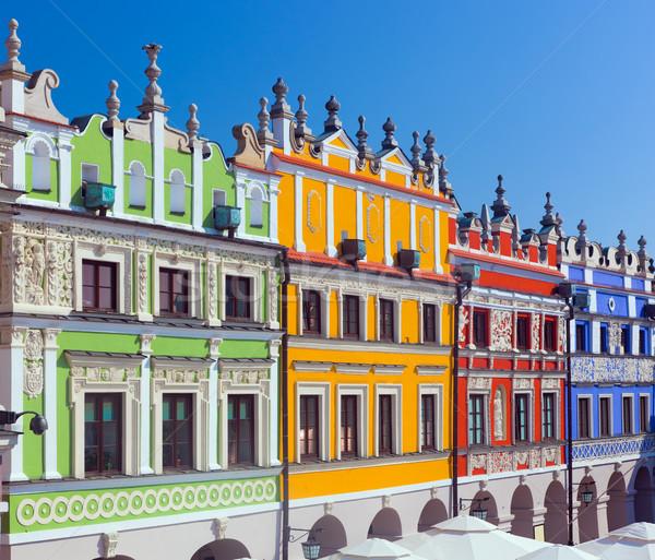 Польша исторический зданий старый город рынке Сток-фото © photocreo
