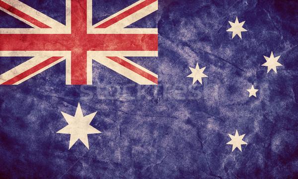 Foto stock: Australia · grunge · bandera · artículo · mi · vintage