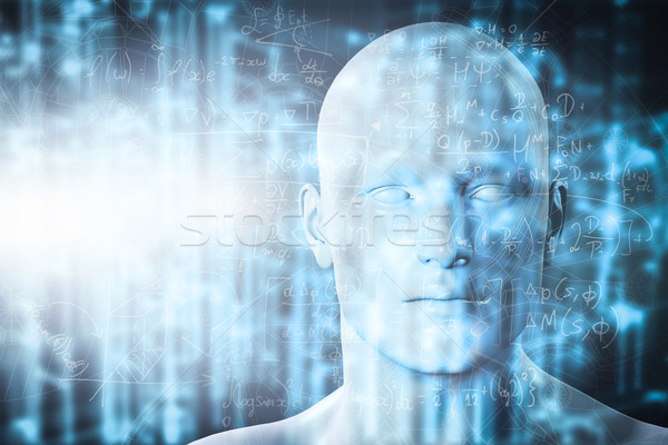 Virtual reality projection. Future science with modern technology, artificial intelligence Stock photo © photocreo