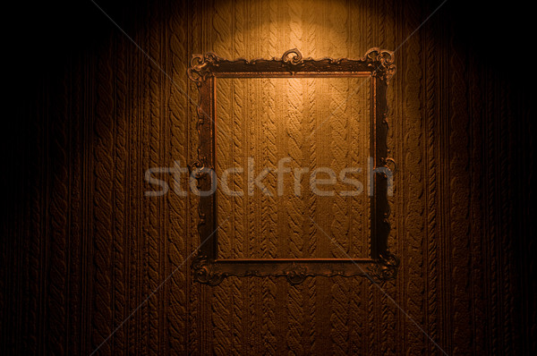 Old frame on retro wall Stock photo © photocreo