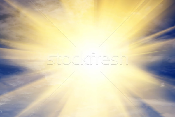 Explosion of light towards heaven, sun. Religion, God, providence. Stock photo © photocreo