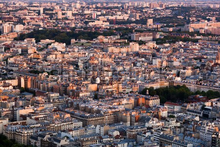 Paris, France view from the top on a residential district Stock photo © photocreo