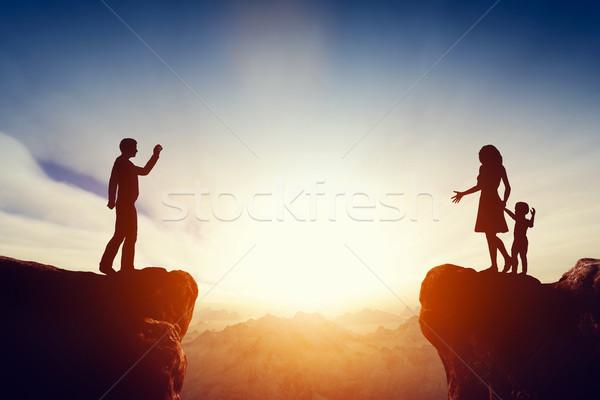 Familie probleem vader kind vrouw echtscheiding Stockfoto © photocreo