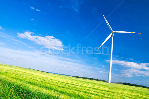 Wind turbines landscape Stock photo © photocreo