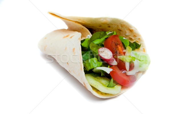 Kebab on white Stock photo © photocreo