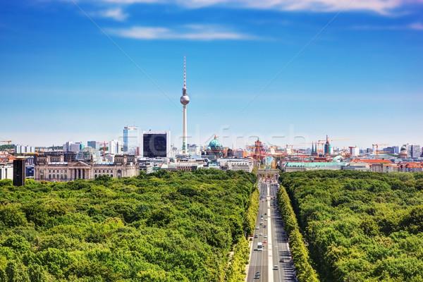 Berlin panoráma tv torony felső kilátás Stock fotó © photocreo
