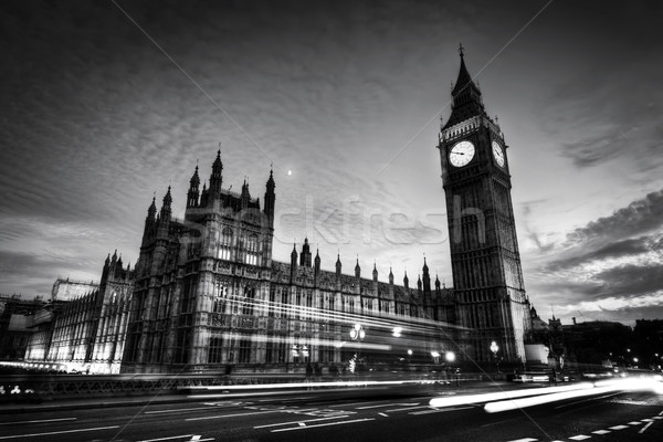 Rouge bus Big Ben westminster palais Londres Photo stock © photocreo