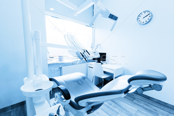 Dentist's office. Dental equipment, modern, clean interior. Blue tone Stock photo © photocreo