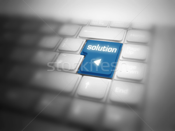 Solution button on keyboard Stock photo © photocreo