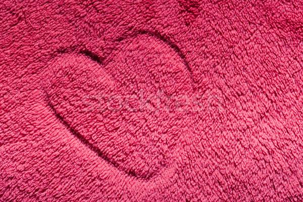 Cuore rosso peloso panno amore san valentino Foto d'archivio © photocreo