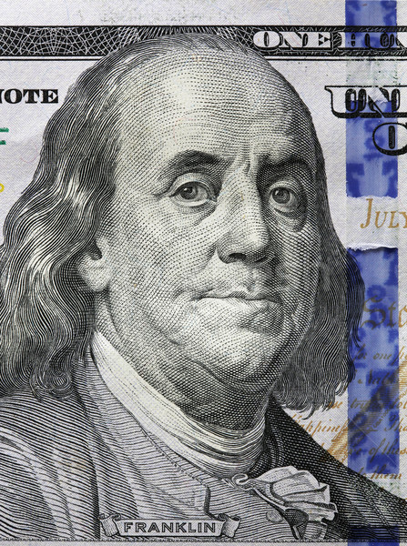One Hundred Dollars. Benjamin Franklin portrait Stock photo © photocreo