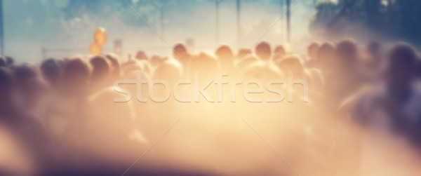 People crowd in the morning, sun flare. Blur background banner Stock photo © photocreo