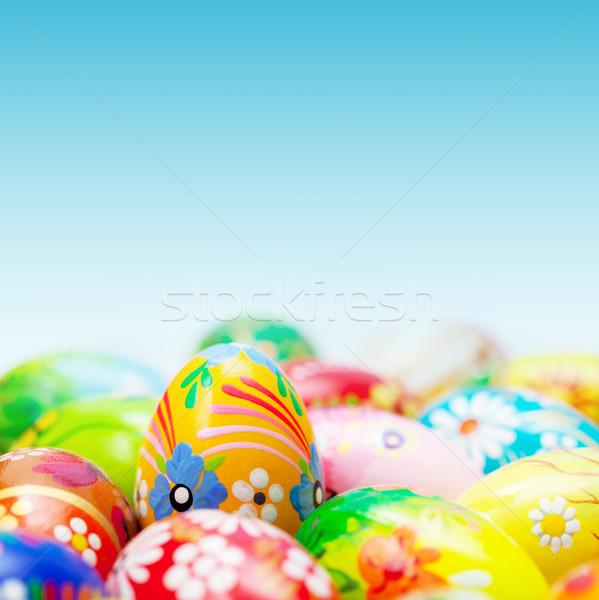 Easter eggs cielo blu primavera modelli arte Foto d'archivio © photocreo