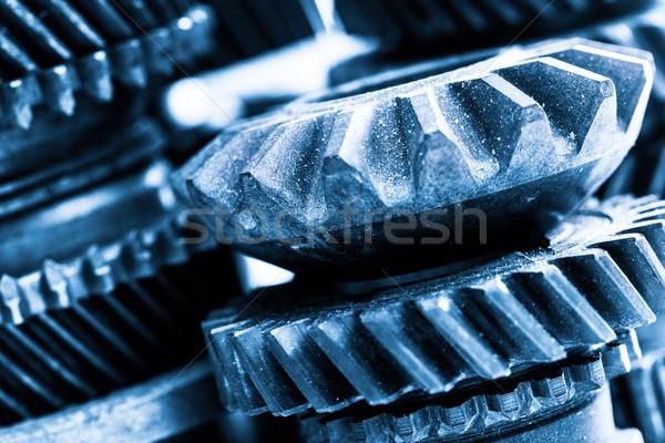 Dişliler grunge gerçek motor elemanları Stok fotoğraf © photocreo