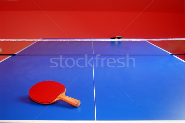 Tafeltennis ping pong afbeelding sport sport tennis Stockfoto © photocreo