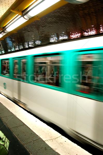 Yeraltı hareket metro seyahat hızlandırmak metro Stok fotoğraf © photocreo