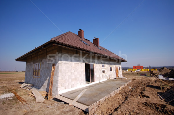 A house being built Stock photo © photocreo